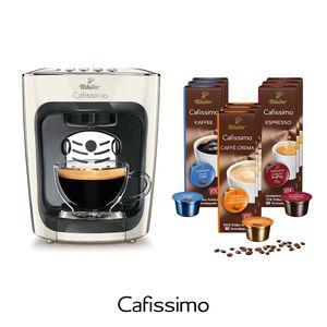 Tchibo Cafissimo mini inkl. 90 Kapseln – Kaffeemaschine (für Kaffee, Espresso, Caffé Crema und Tee)