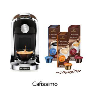 Tchibo SAECO Cafissimo TUTTOCAFFÈ inkl. 90 Kapseln – Kaffeemaschine (für Kaffee, Espresso, Caffè Crema und Tee)