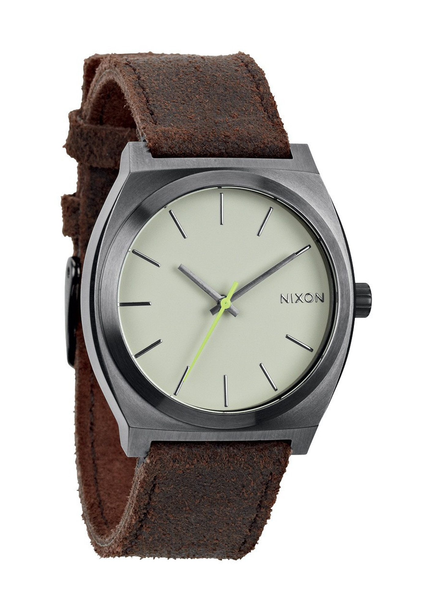 NIXON The Time Teller Uhr Gunmetal Braun A045 1388