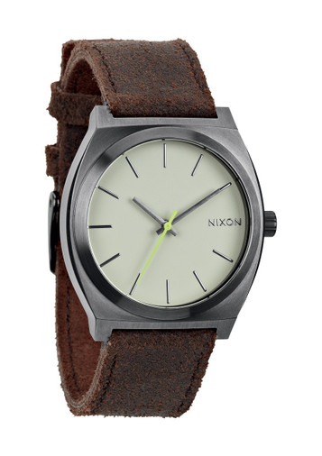 NIXON The Time Teller Uhr Gunmetal Braun A045 1388 – Bild 1