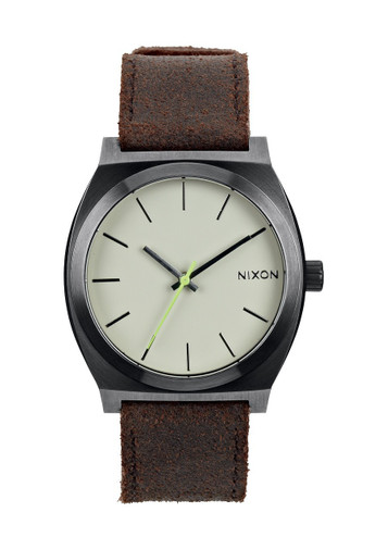 NIXON The Time Teller Uhr Gunmetal Braun A045 1388 – Bild 4