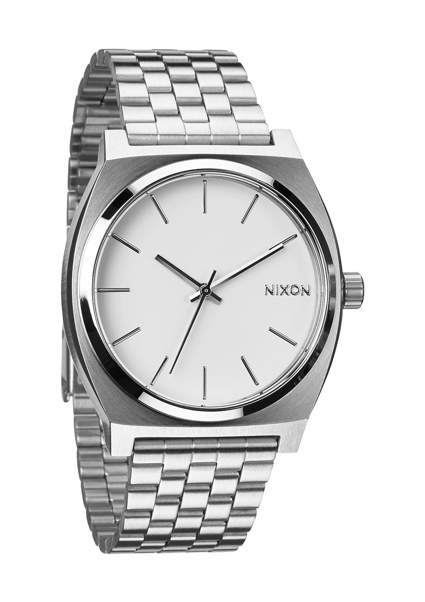 NIXON The Time Teller Uhr Stahl Weiß