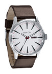 NIXON The Sentry Leather Uhr Stahl Weiß A105 100 001