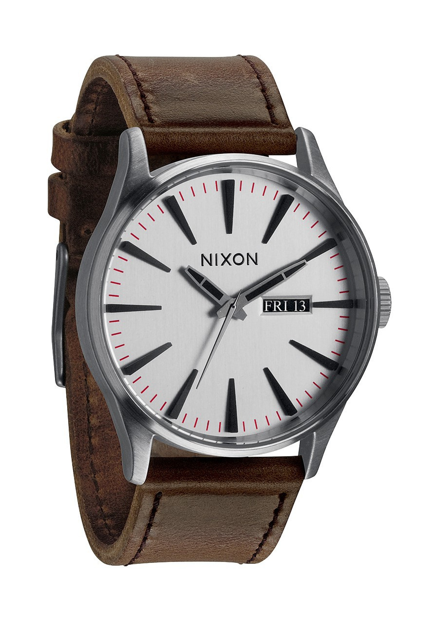 NIXON The Sentry Leather Day- Date Quarzuhr A105 1113