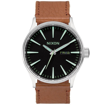 NIXON Sentry Leather Herrenuhr A105-1037 – Bild 1