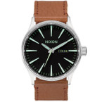 NIXON Sentry Leather Herrenuhr A105-1037 001