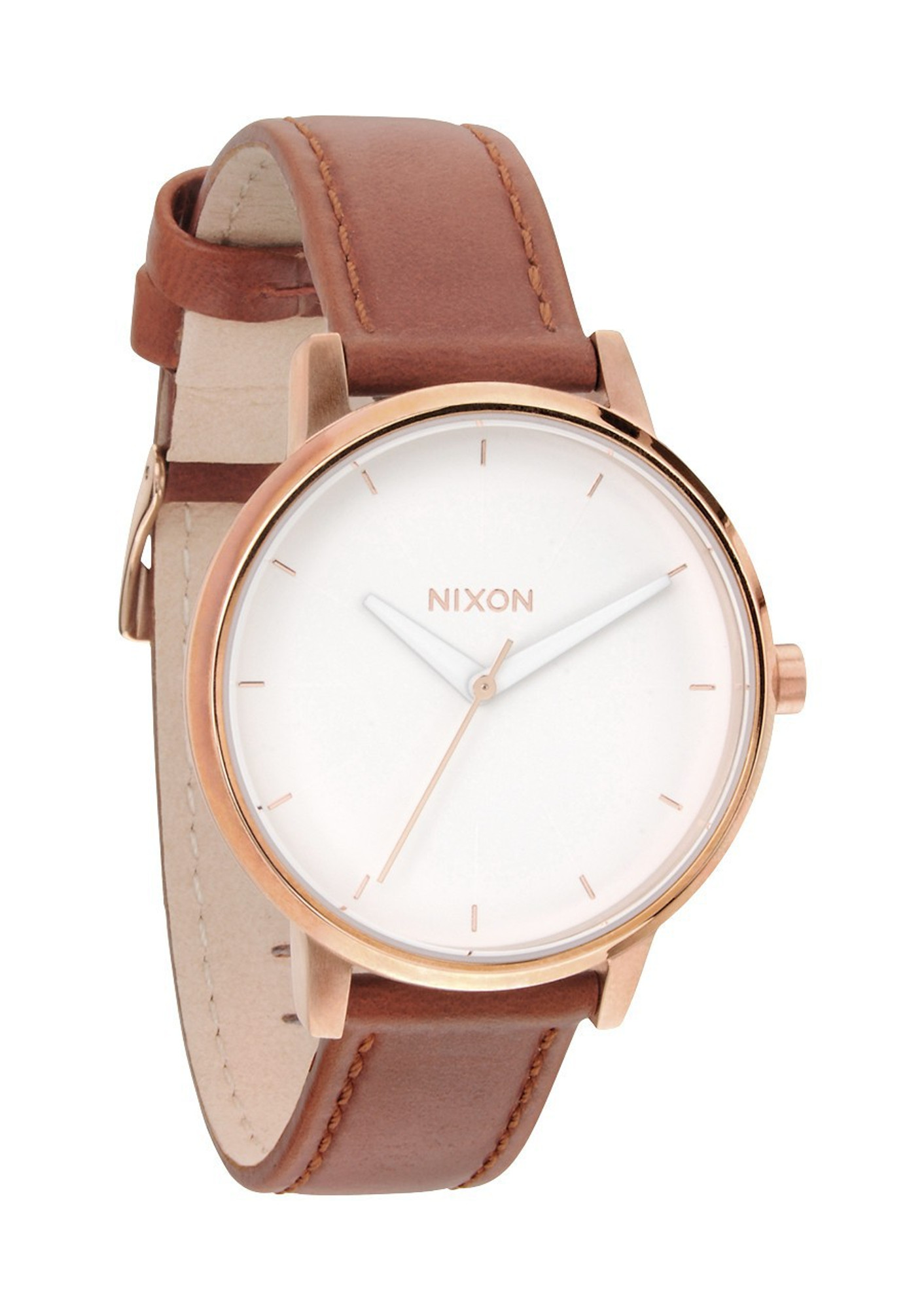 NIXON The Kensington Leather Rosé Quarzuhr A108 1045