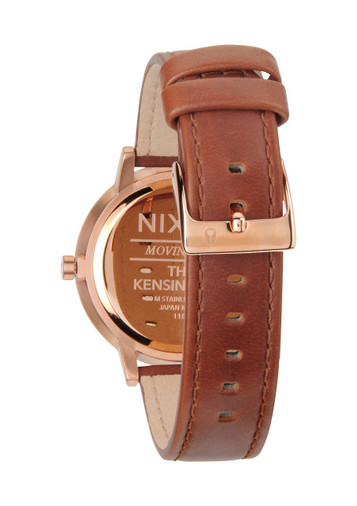 NIXON The Kensington Leather Rosé Quarzuhr A108 1045 – Bild 3