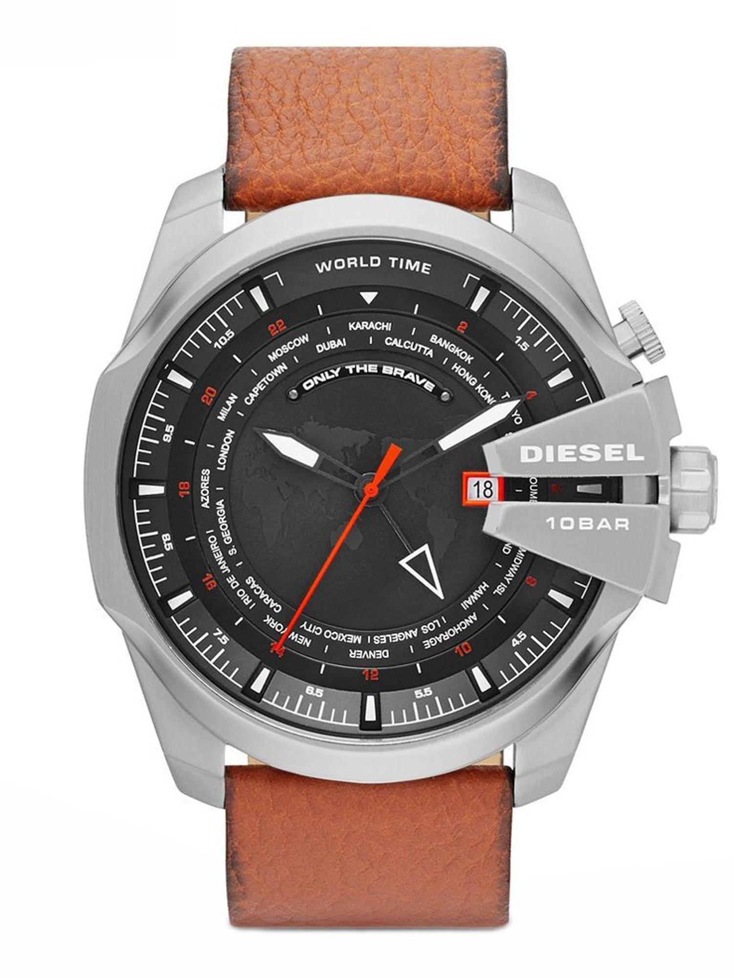 DIESEL MEGA CHIEF World Time GMT Quarzuhr DZ4321