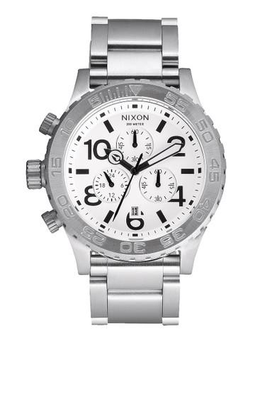 NIXON The 42-20 Chrono Chronograph Stahl Weiß – Bild 1