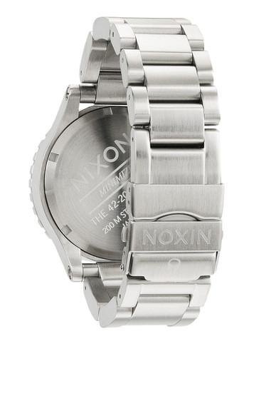 NIXON The 42-20 Chrono Chronograph Stahl Weiß – Bild 3