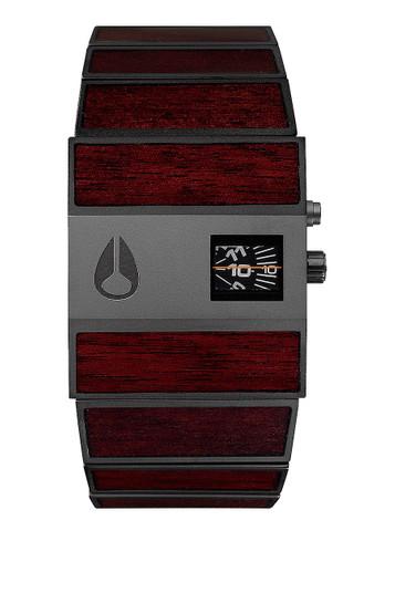 NIXON The Rotolog Uhr Dark Wood Black Schwarz – Bild 1
