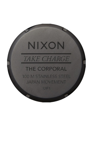 NIXON The Corporal Herrenuhr Schwarz Orange Tint – Bild 4