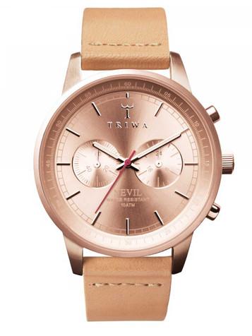 TRIWA Rosé Nevil Chronograph NEST105-CL011714 – Bild 1