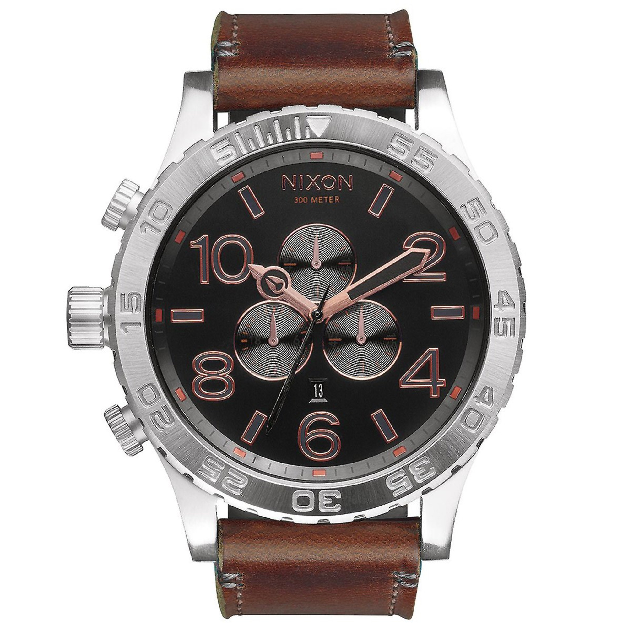 NIXON 51-30 Chrono Leather Quarzuhr A124-2064