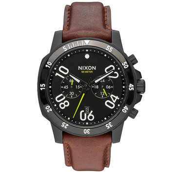 NIXON Ranger Chrono Leather Herrenuhr A940-712 – Bild 1