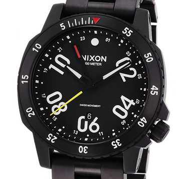 NIXON Ranger GMT All Black Quarzuhr A941-001 – Bild 2