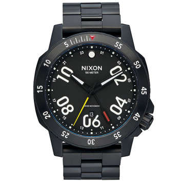 NIXON Ranger GMT All Black Quarzuhr A941-001 – Bild 1
