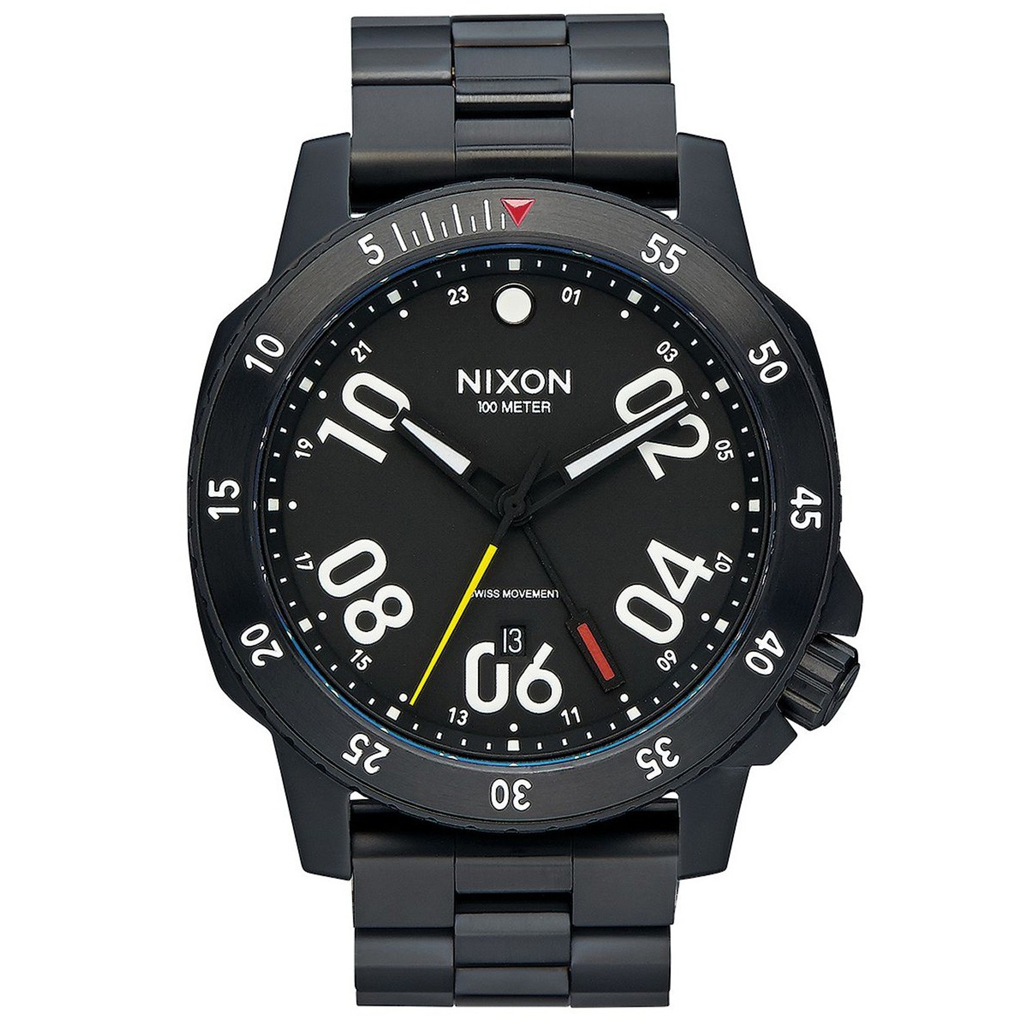 NIXON Ranger GMT All Black Quarzuhr A941-001