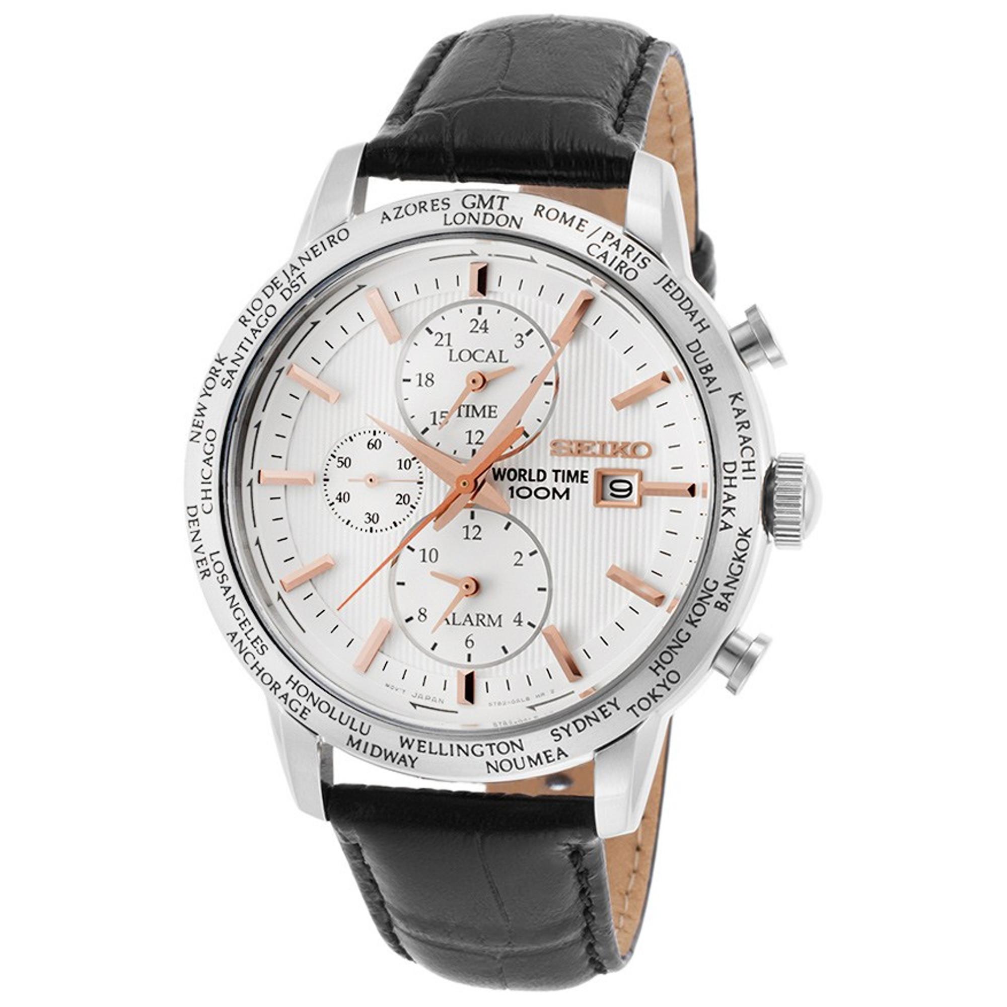 SEIKO World Time Alarm Chronograph SPL053P1