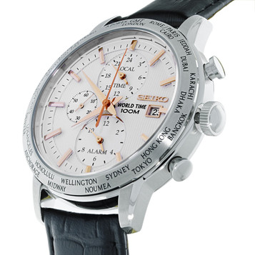 SEIKO World Time Alarm Chronograph SPL053P1 – Bild 2