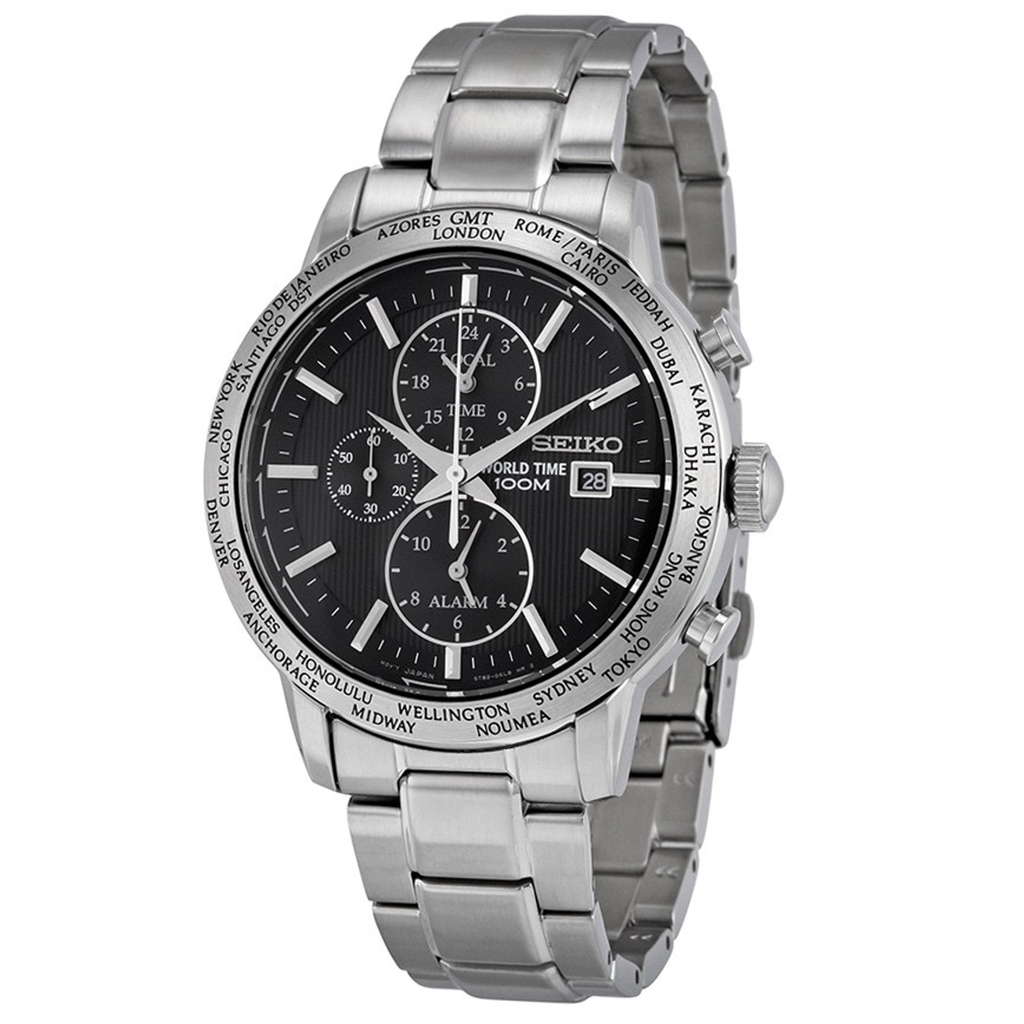 SEIKO World Time Alarm Chronograph SPL049P1