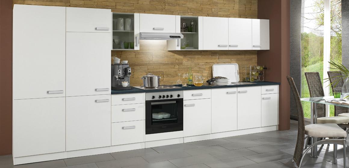 Küchenzeile BARCELONA in Weiß