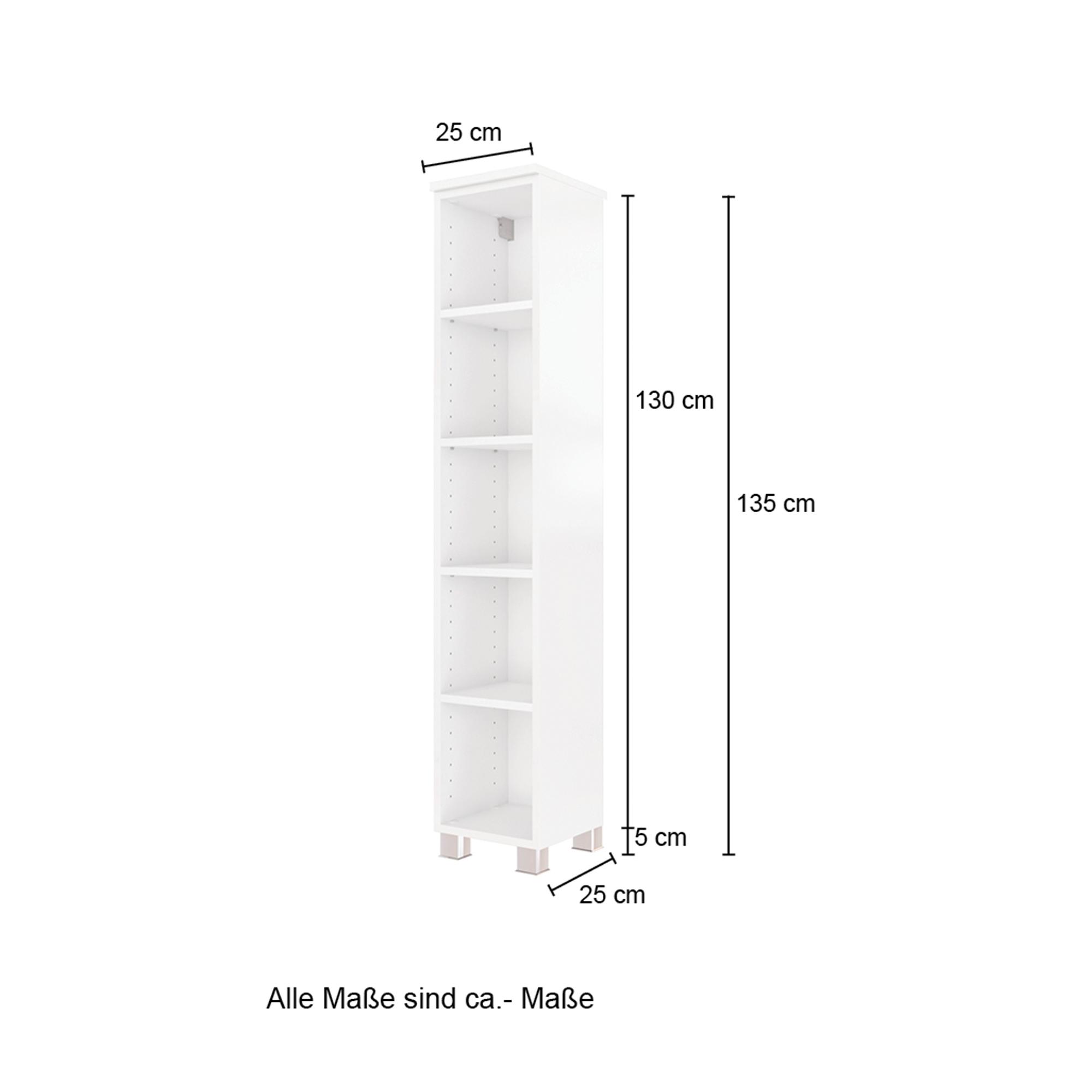 Bad Regal GENUA   20 Fächer   220 cm breit   Weiß