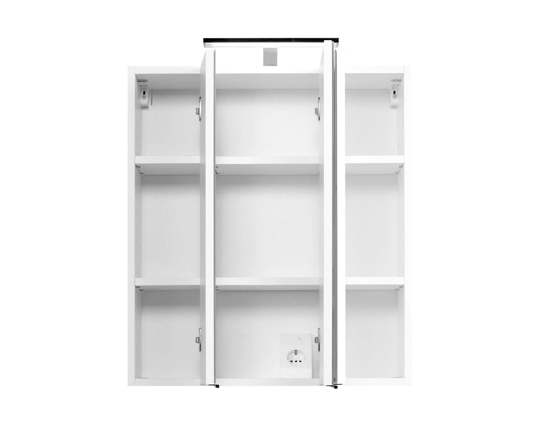 bad spiegelschrank phoenix 3 t rig mit beleuchtung 60 cm breit wei bad spiegelschr nke. Black Bedroom Furniture Sets. Home Design Ideas