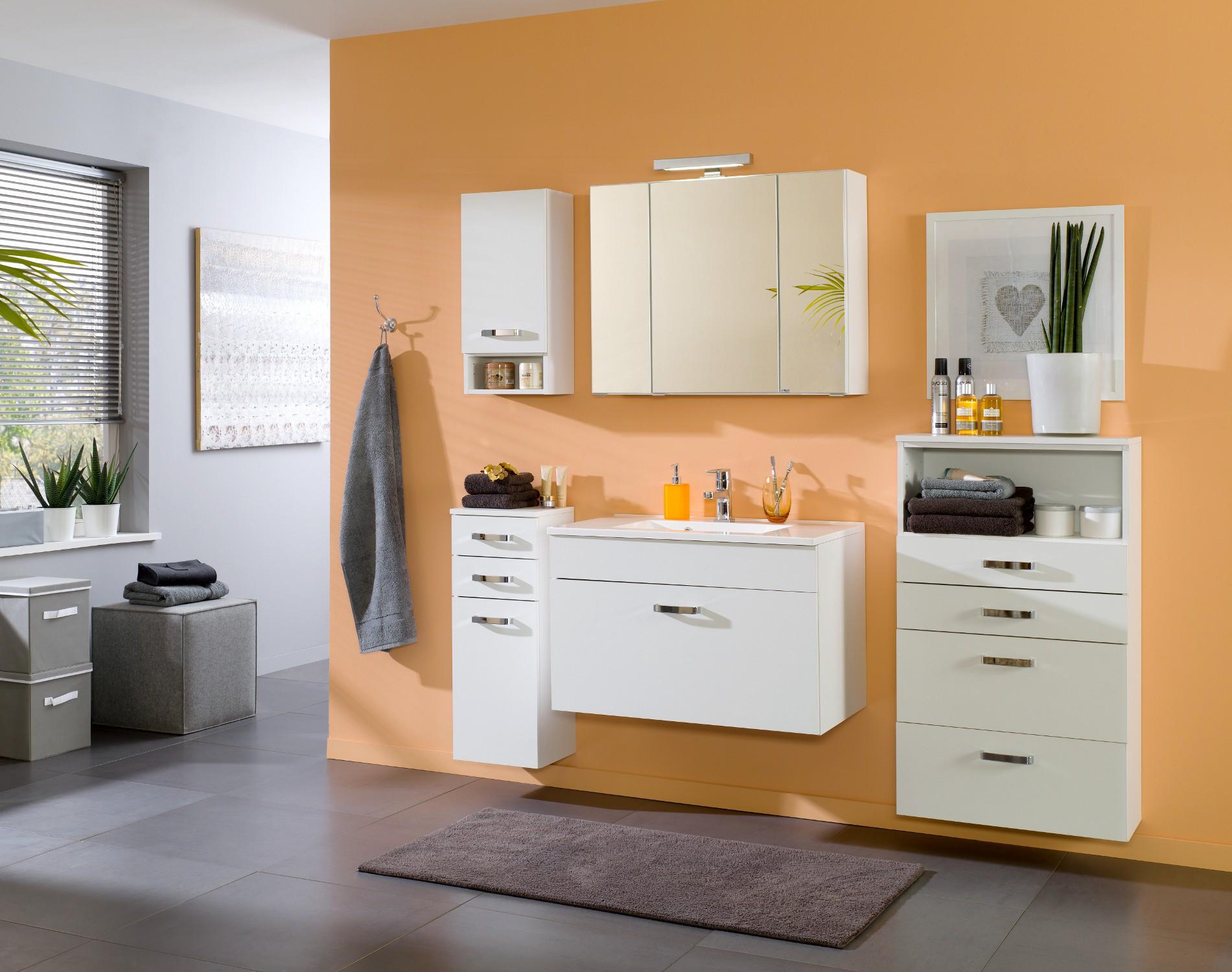 bad midischrank capri 1 t rig 2 schubladen 30 cm breit wei bad bad midischr nke. Black Bedroom Furniture Sets. Home Design Ideas