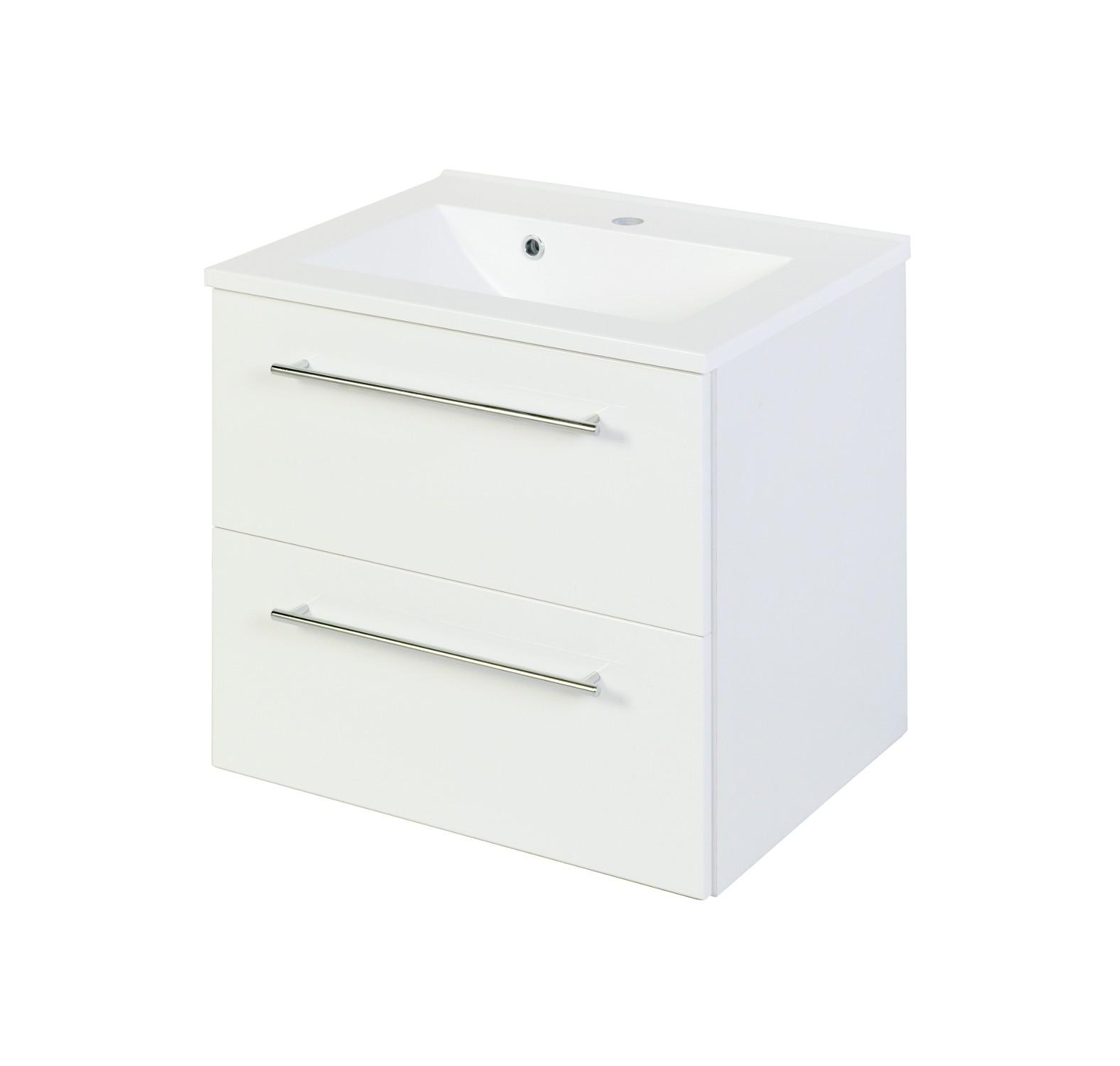 bad waschtisch mailand 2 ausz ge 60 cm breit. Black Bedroom Furniture Sets. Home Design Ideas