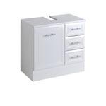 Bad-Waschbeckenunterschrank NEAPEL - 1-türig, 3 Schubladen - 60 cm breit - Hochglanz Weiß