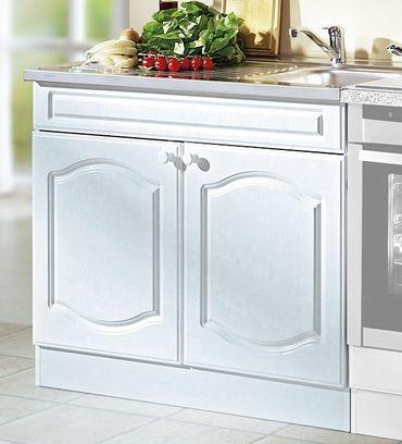 Küchen-Spülenschrank LIST - 2-türig - 100 cm breit - Weiß