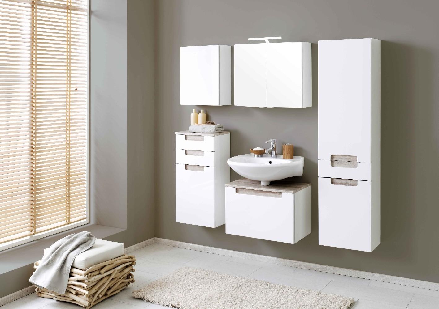 Bad waschbeckenunterschrank siena 1 auszug 60 cm breit for Bad waschbeckenunterschrank