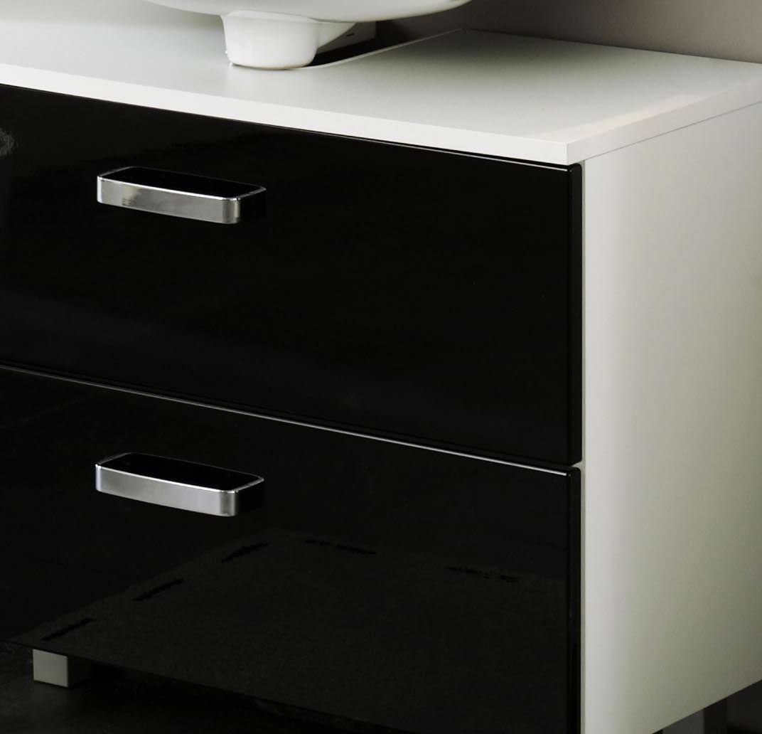 badm bel set denver 4 teilig 105 cm breit hochglanz schwarz bad badm belsets. Black Bedroom Furniture Sets. Home Design Ideas