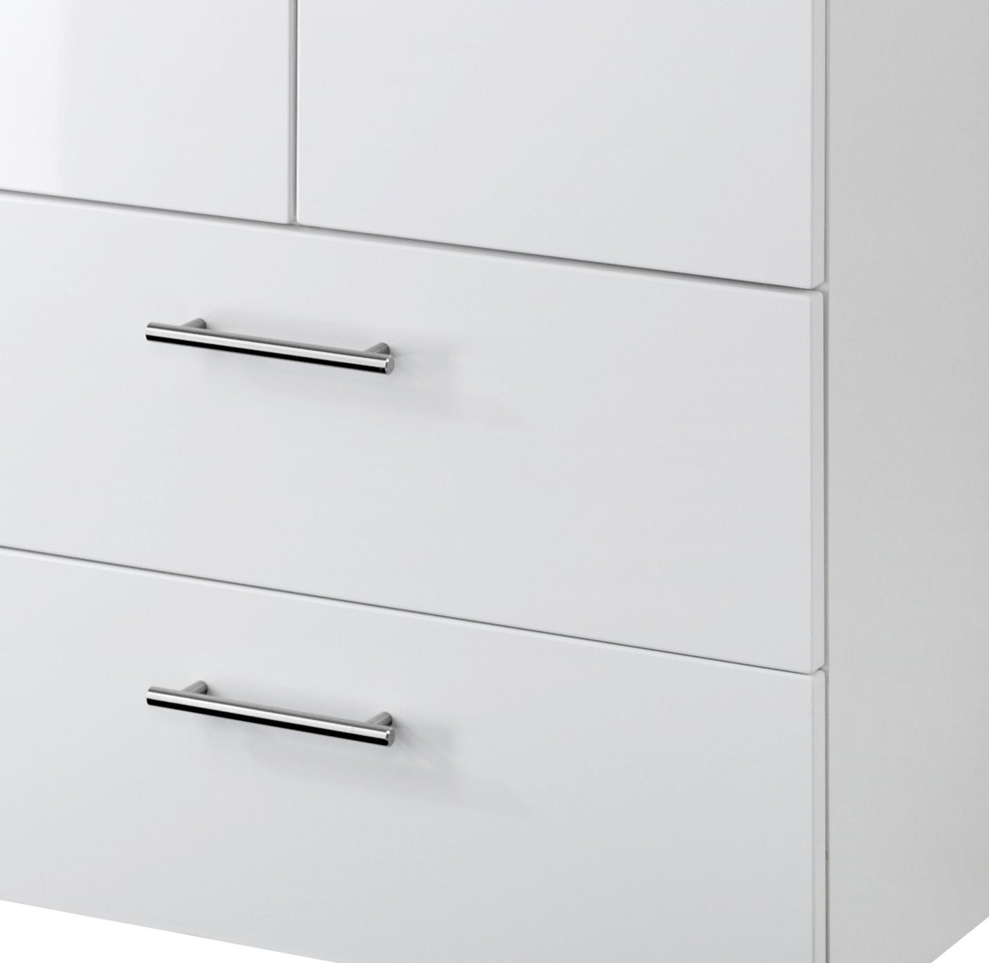 badezimmer midischrank blanco badezimmerschrank 2 t ren 2 schubladen 70 cm weiss ebay. Black Bedroom Furniture Sets. Home Design Ideas