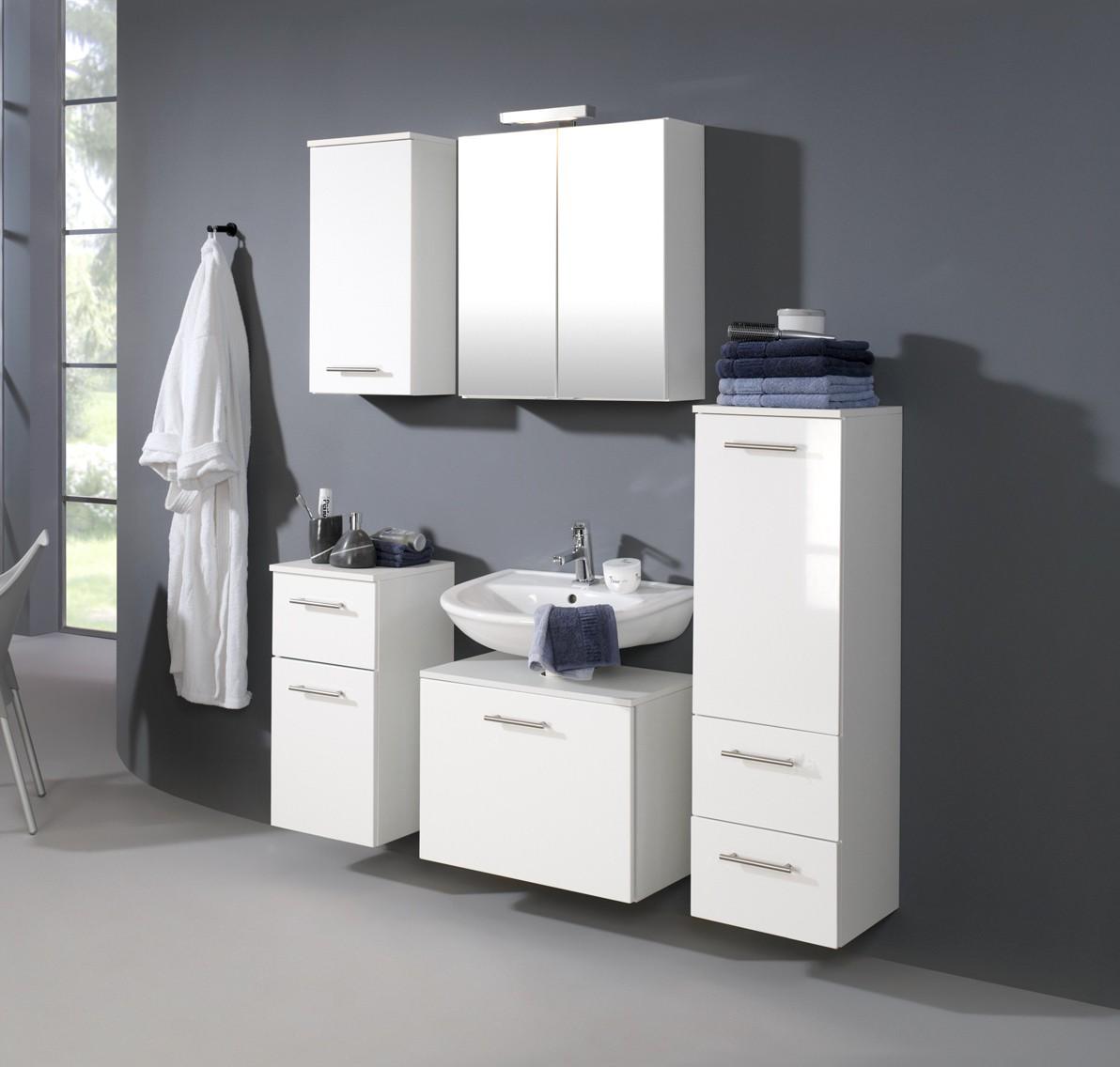 bad waschbeckenunterschrank blanco 1 auszug 60 cm breit hochglanz wei bad. Black Bedroom Furniture Sets. Home Design Ideas