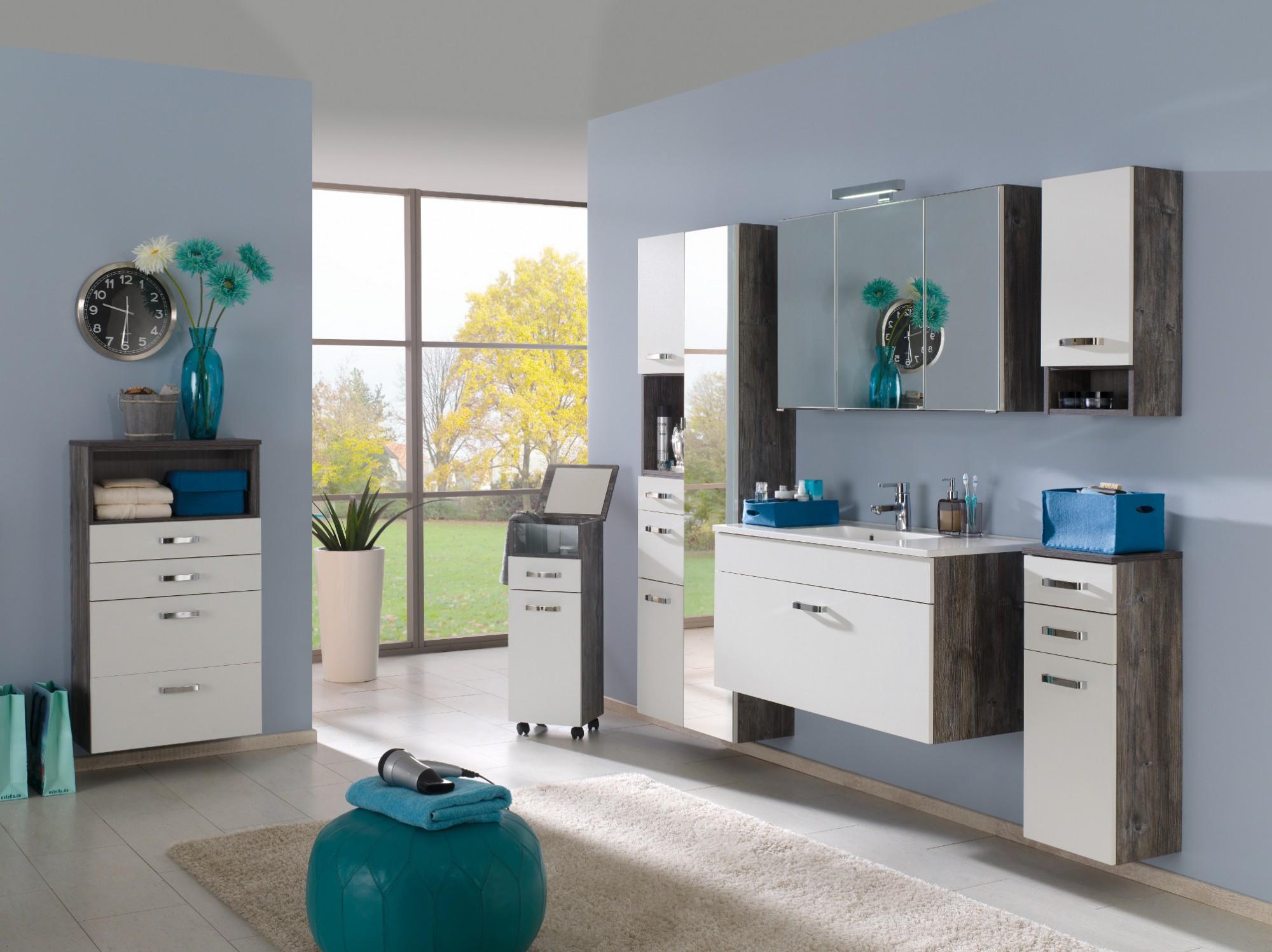 badmöbel-set capri - mit waschtisch und spiegelschrank - 4-teilig, Badezimmer ideen