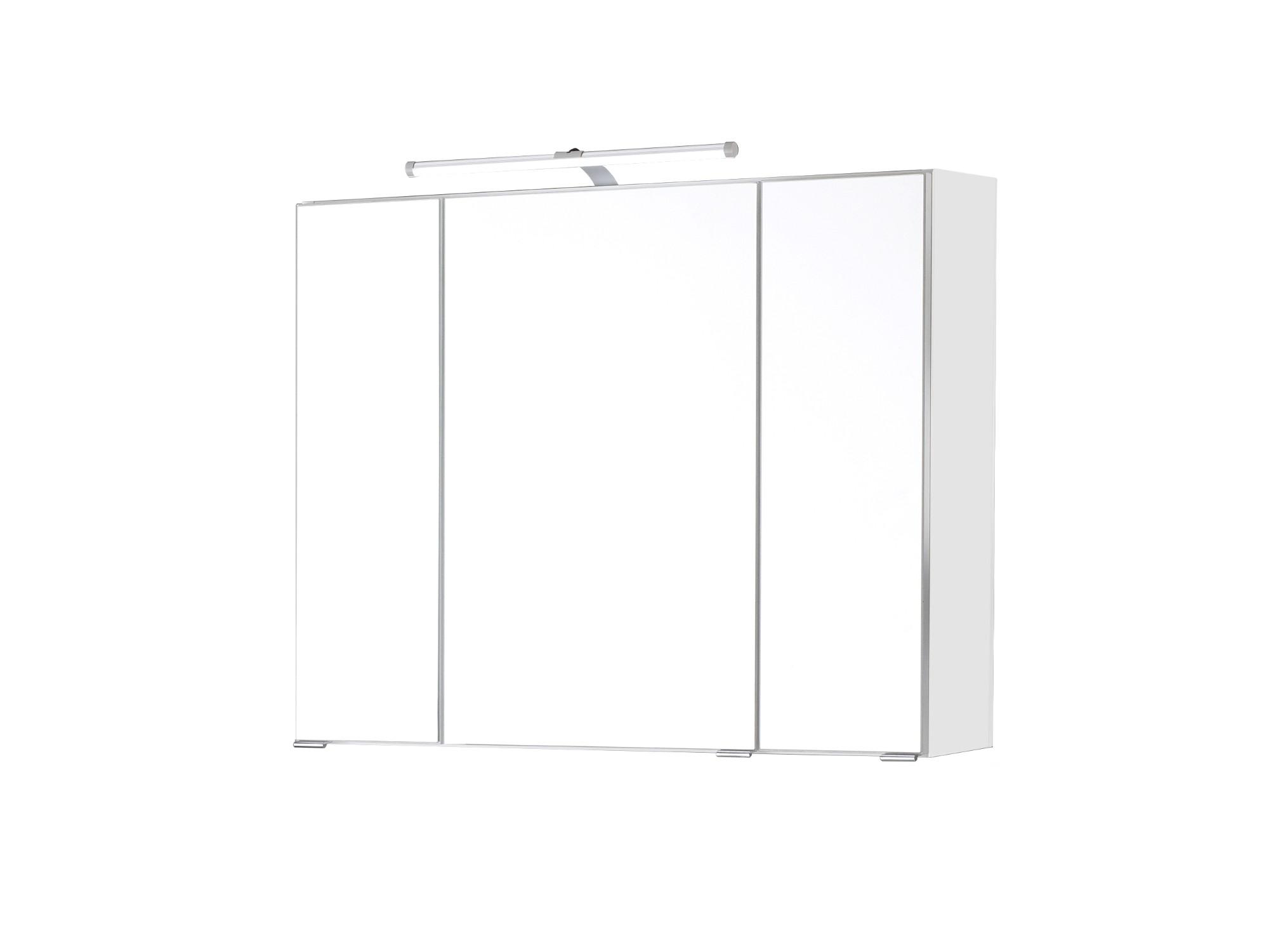 bad spiegelschrank bologna 3 t rig mit led aufbauleuchte 90 cm breit wei bad spiegelschr nke. Black Bedroom Furniture Sets. Home Design Ideas