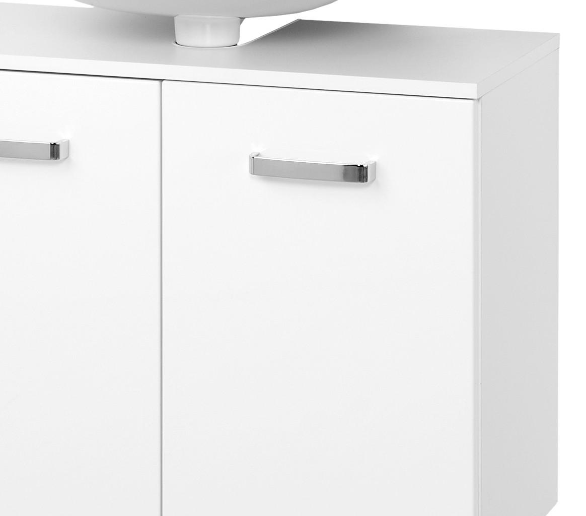 Bad Waschbeckenunterschrank BOLOGNA   2 Türig   70 Cm Breit   Hochglanz  Weiß ...