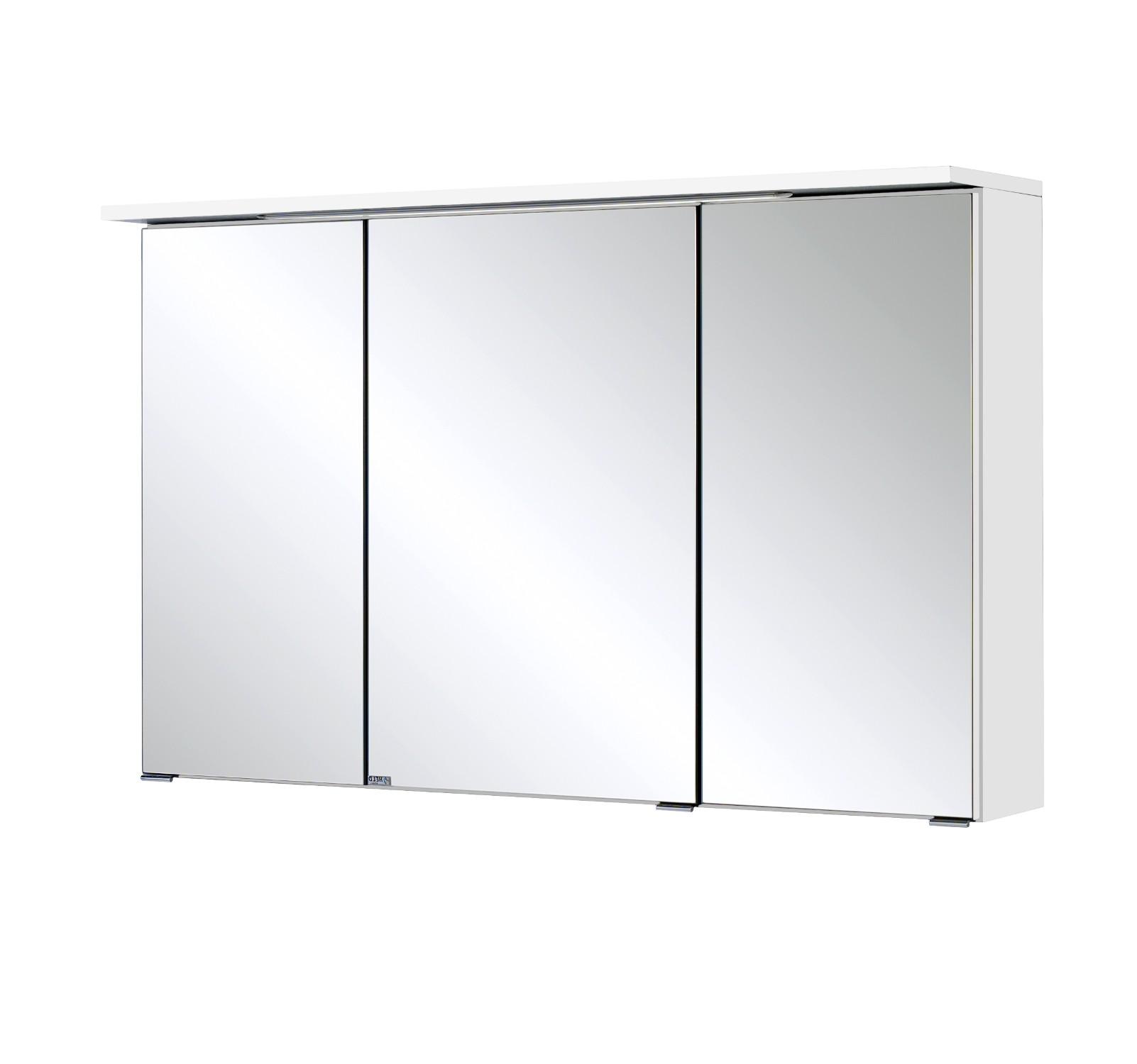 Bad spiegelschrank bologna 3 t rig mit led lichtleiste 100 cm breit wei bad spiegelschr nke - Spiegelschrank bad 100 cm ...
