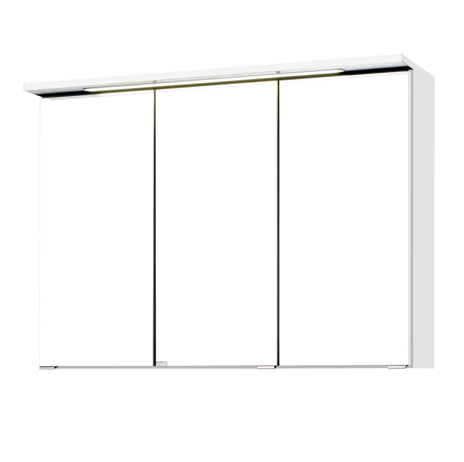 badezimmerspiegel bologna spiegelschrank 3d badspiegel led 90cm weiss ebay. Black Bedroom Furniture Sets. Home Design Ideas
