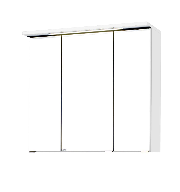 Großartig Spiegelschrank Bad Weiß Dekoration Von Sale Bad-spiegelschrank Bologna - 3-türig, Mit Led-lichtleiste