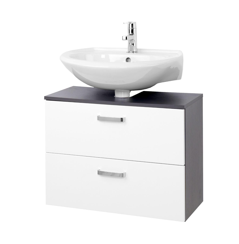 Bad waschbeckenunterschrank bologna 1 auszug 1 klappe for Bad waschbeckenunterschrank