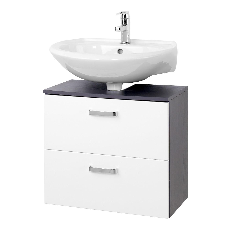 Bad Waschbeckenunterschrank Bologna 1 Auszug 1 Klappe 60 Cm