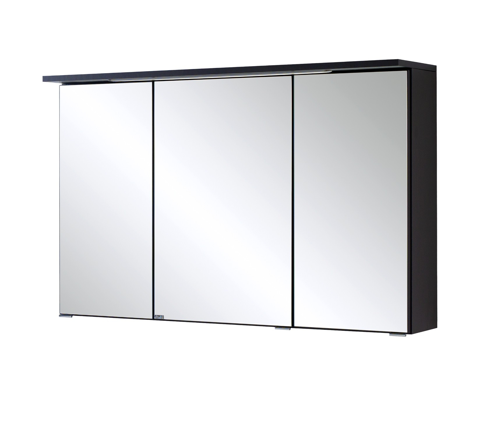 bad spiegelschrank bologna 3 t rig mit led lichtleiste 100 cm breit graphitgrau bad. Black Bedroom Furniture Sets. Home Design Ideas