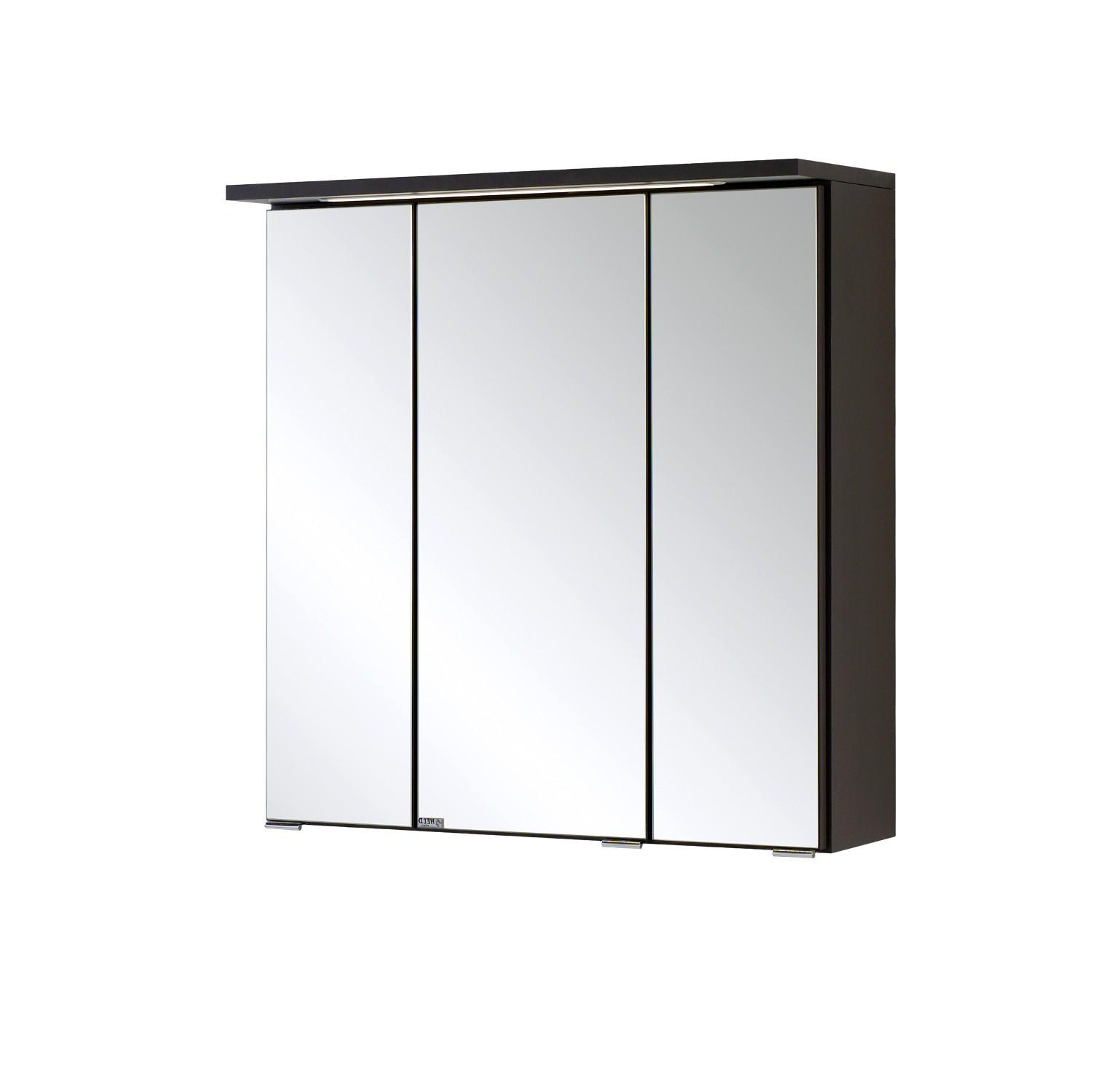 Bad Spiegelschrank BOLOGNA  3 Türig, Mit LED Lichtleiste   60 Cm