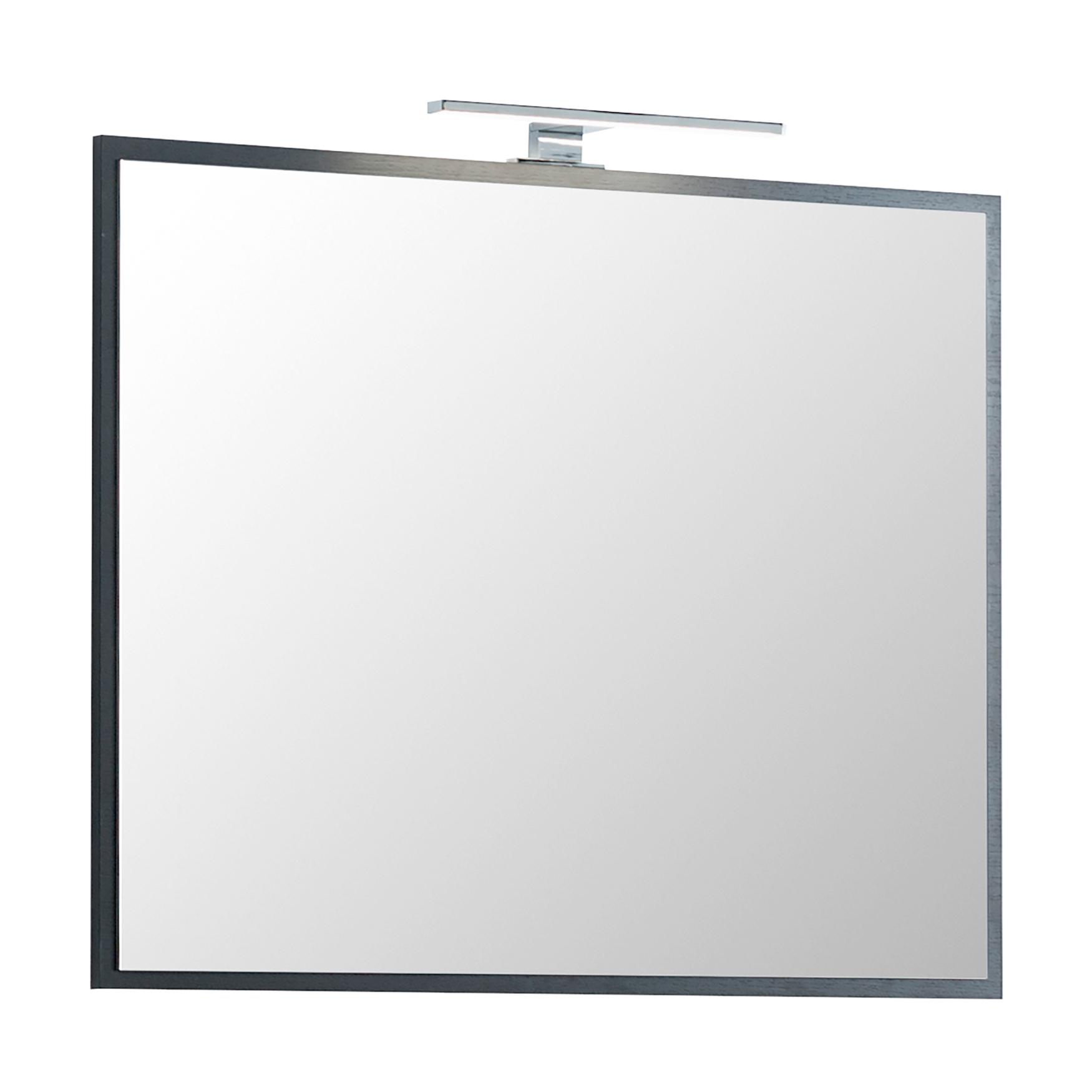 Bad spiegel montreal mit led aufbauleuchte 80 cm breit for Spiegel 80 cm breit