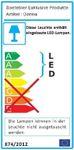 LED-Aufbauleuchte - 30 cm breit - Silberfarben