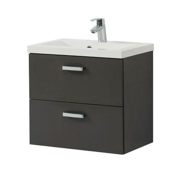 Bad-Waschtisch MONTREAL - 2 Auszüge - 60 cm breit - Grau